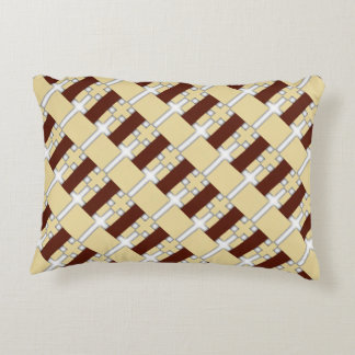 Diagonal Pattern Reversible Accent Pillow