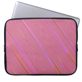 Diagonal Pink Abstract Pattern Computer Sleeve
