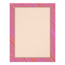 Diagonal Pink Abstract Pattern Flyer