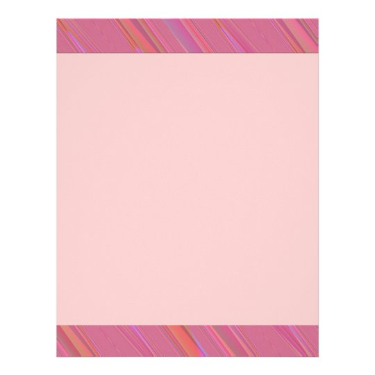 Diagonal Pink Abstract Pattern Letterhead