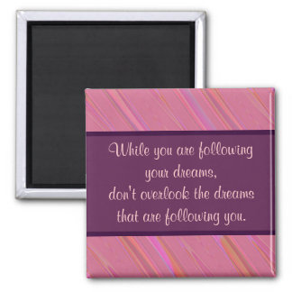 Diagonal Pink Abstract Pattern Magnet