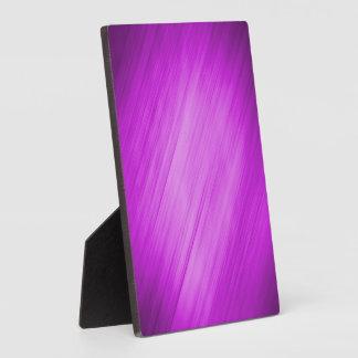 Diagonal Pink Background Plaque