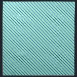 """Diagonal pinstripes - aqua  and navy cloth napkin<br><div class=""""desc"""">Classic pinstripes on the bias - aquamarine background with navy stripes</div>"""