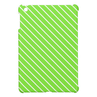 Diagonal pinstripes - lime green and white cover for the iPad mini