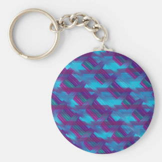 Diagonal plaid keychain