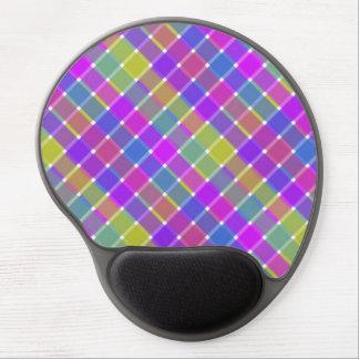 dIAGONAL pLAID pATTERN 6 Gel Mouse Pads