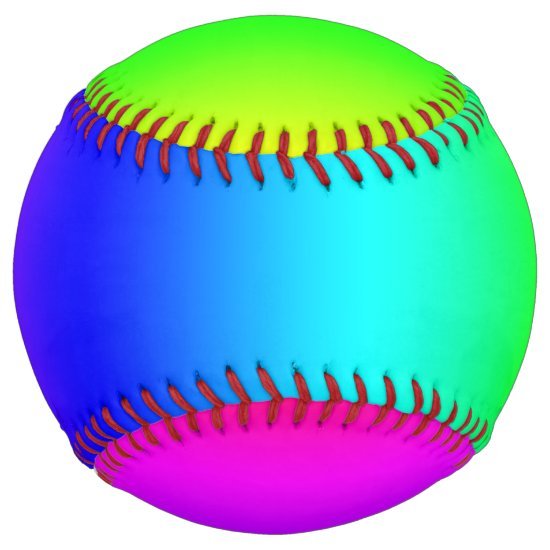 Diagonal Rainbow Gradient Softball