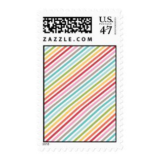 Diagonal Rainbow Stripe Postage Stamp
