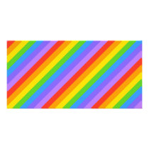 Diagonal Rainbow Stripes Pattern. Card