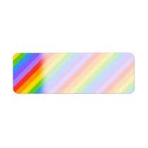 Diagonal Rainbow Stripes Pattern. Label