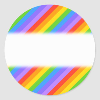 Diagonal Rainbow Stripes Pattern Sticker