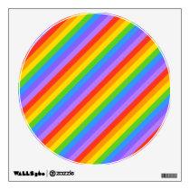 Diagonal Rainbow Stripes Pattern. Wall Decal