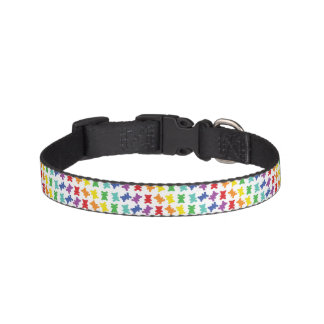 Diagonal Rainbow Teddy Bear Collar