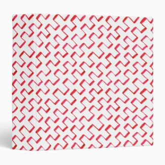 Diagonal Red Geometric Painted Pattern