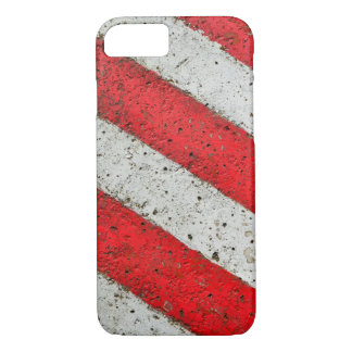 Diagonal red white lines urban texture traffic sig iPhone 8/7 case