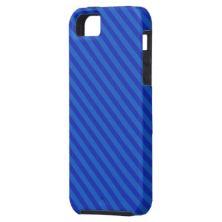 Diagonal royal blue Stripes iPhone SE/5/5s Case