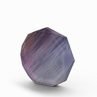 Diagonal Silvery Purple Abstract Pattern Acrylic Award