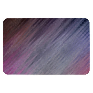 Diagonal Silvery Purple Abstract Pattern Magnet