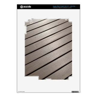 Diagonal Slatted Boards Decal For iPad 3