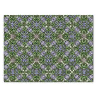 Diagonal square floral pattern tissue paper