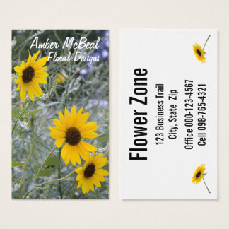 Diagonal Stack Sunflowers Business Card