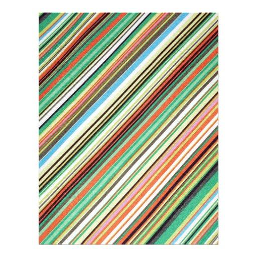 Diagonal Stripe Colorful Cloth Pattern Custom Letterhead