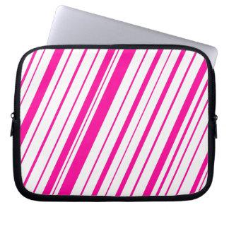 Diagonal Stripe ~ Hot Pink Laptop Sleeve