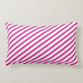Diagonal Stripe Hot Pink Pattern Pillows
