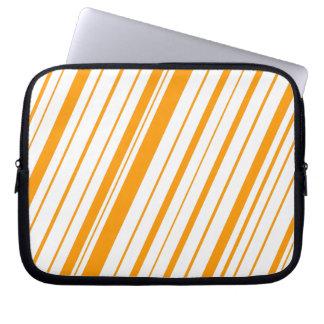 Diagonal Stripe ~ Orange Computer Sleeve