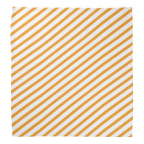 Diagonal Stripe Orange Pattern Bandana