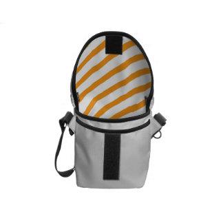 Diagonal Stripe Orange Pattern Messenger Bags