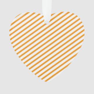 Diagonal Stripe Orange Pattern Ornament