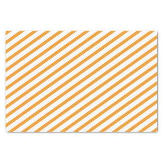 Diagonal Stripe Orange Pattern Tissue Paper