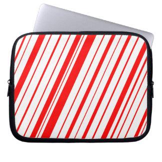 Diagonal Stripe ~ Red Laptop Sleeve