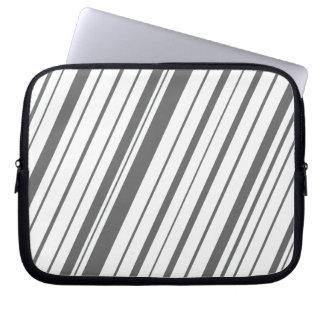 Diagonal Stripe ~ Slate Gray Laptop Sleeve