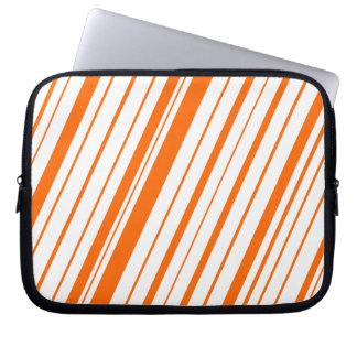 Diagonal Stripe ~Tangerine Laptop Sleeve