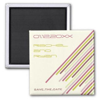 Diagonal Stripes   02 * Purple Dream   Save Date Magnets