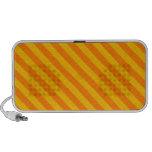 Diagonal Stripes 2 - Orange and Amber Travelling Speaker