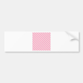 Diagonal Stripes 2 - Pale Pink and Carnation Pink Car Bumper Sticker