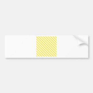 Diagonal Stripes 2-Yellow 2-Light Yellow and Corn Bumper Stickers