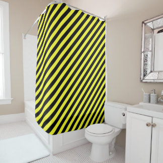 Yellow And Black Shower Curtains | Zazzle
