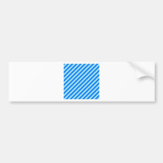 Diagonal Stripes - Blizzard Blue and Azure Bumper Sticker