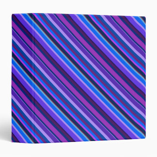 Diagonal stripes in blue and purple binder