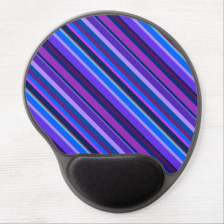 Diagonal stripes in blue and purple gel mouse pad