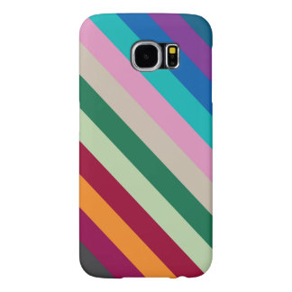 Diagonal Stripes In Fall Colors Samsung Galaxy S6 Case