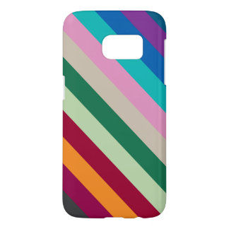 Diagonal Stripes In Fall Colors Samsung Galaxy S7 Case