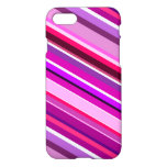 [ Thumbnail: Diagonal Stripes in Pinks, Purples, and White Case ]