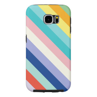 Diagonal Stripes In Spring Colors Samsung Galaxy S6 Case