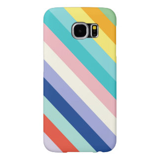 Diagonal Stripes In Spring Colors Samsung Galaxy S6 Cases
