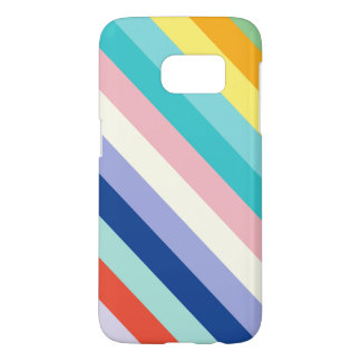 Diagonal Stripes In Spring Colors Samsung Galaxy S7 Case